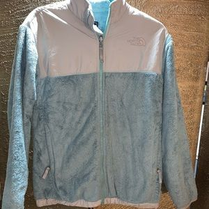 Light blue north face jacket